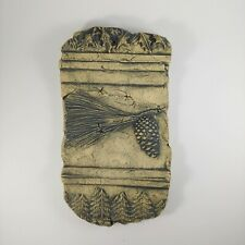"""HANDMADE Mount St. Helens Ash Clay 8"""" Wall Hanging Tile - Rustic Forest Trees"""