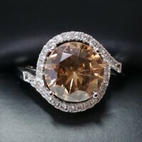 Gorgeous Citrine Ring Women Jewelry Wedding Birthday Engagement Gift Nickel Free