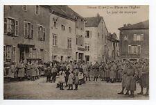 DIEUZE DUSS Moselle CPA 57 soldats place de l'église jour musique Alex schuster