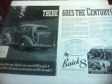 1936 Buick Century ORIGINAL 2 PAGE AD - Great Garage Decor..
