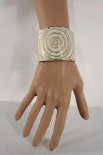 New Women Fashion Jewelry Gold Metal Cuff Bracelet Circles Black White Pink Blue