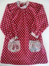 Fashion clothes for girls, White polka-dot red blouse 5-6 years