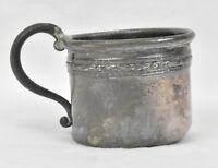 Antique Sterling Silver Baby Cup 2.0oz Birth Gift Mug Queen CY.SI Stamped