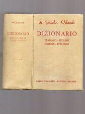 IL PICCOLO ORLANDI dizionario italiano-inglese / inglese-italiano