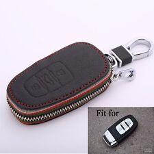 Leather car key chain key case key cover For Audi Q5 A6L A7 A8L new A5 A4L 2013