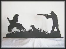 Pheasant Hunter Metal Art Silhouettes with Hunting Dog