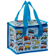 Vehicles Cars Blue Insulated Eco Boys Lunch Bag Picnic Portable Snack Storage