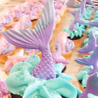 Mermaid Fishtail Silicone Fondant Mold Cake Decorating Sugarcraft Mould DIY Tool
