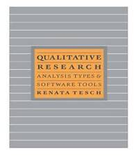 Qualitative Research: Analysis Types and Software by Renate Tesch (Paperback,...