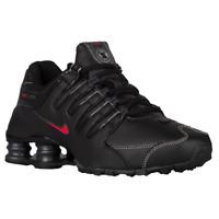 Nike Shox NZ Men's Black Varsity Red Running Shoes 378341-017 Size 10