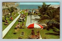 Pompano Beach FL, Seabonay Apartments, Ocean, Chrome Florida c1966 Postcard