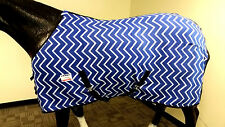 Grand Entry Polar Fleece Horse Cooler/ Blanket Liner Royal Chevron Zig Zag 75""