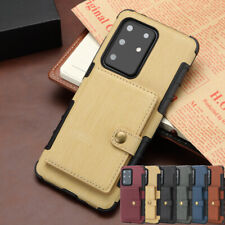 For Galaxy S20 Ultra Note S10/S9+ Slim Leather Wallet Armor Case Card TPU Cover