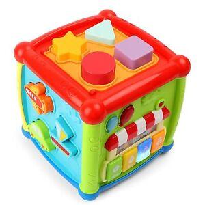 1-2 Jahre Baby Musikalisches Lernspielzeug Entdeckerwürfel mit leichter Musik