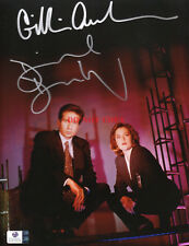 X Files Signed 8x10 Photo - David Duchovny  Gillian Anderson Autographed Reprint