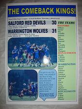 Salford Red Devils 30 Warrington Wolves 31 - 2016 - souvenir print