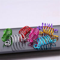 10 pcs Dreadlock Spiral Flexible Beads Cuffs Clips Hair Rings Many Colours