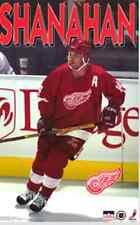 Vtg Brendan Shanahan Detroit Red Wings 23x35 Poster NHL Starline Action 90s