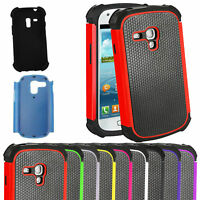 Dual Silicon Shock Proof Defender Case Cover for Samsung Galaxy S3 Mini i8190