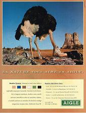 PUBLICITE ADVERTISING 024   1999   AIGLE  chaussures modèle TENERE