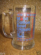 Mobil Cotton Bowl Classic Football Stadium Souvenir Game Glass Mug