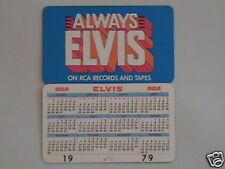 1979 Elvis Presley Wallet Calendar NM/Mint Condition