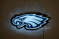 "New Philadephia Eagles Led Neon Sign 14"" Decor Artwork Light Lamp Bar"