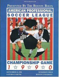 1990 American Professional Soccer League Championship game program, APSL, ASL