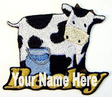 Cow Custom Iron-on Patch With Name Personalized Free