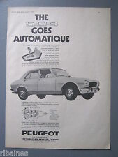 R&L Ex-Mag Advert: Peugeot 504 Car goes Automatic 1970