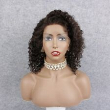 """30% Off Sale! Afro Kinky Curl 12"""" 100% Indian Remy Hair Full Lace Wig"""