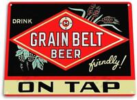 Grain Belt Beer On Tap Decor Art Bar Pub Beer Bar Man Cave Metal Sign