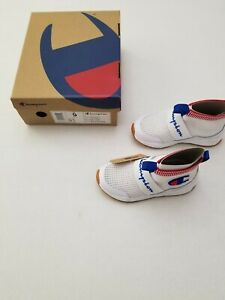 Champion Rally Pro Sock Knit White Red Toddler Unisex Sneakers Size 9C $60
