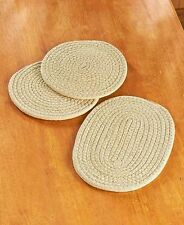 Set Of 3 Fabric Trivets Tabletop Counter Protection Hot Cold Food Serving
