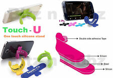 3 X Touch-U Mobile Phone Silicone Sticker Stand iPhone Smart Phones Cell phones