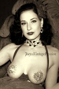 "Pin Up Dita Von Teese American Burlesque Dancer & Model 4""x6"" Reprint Photo BU47"