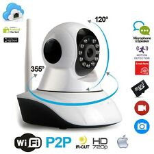 TELECAMERA WIRELESS IP P2P HD 720P CAMERA INFRAROSSI  WI-FI REGISTRA MICRO SD