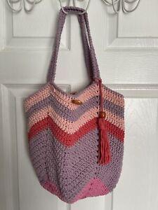 "handmadeShopping Bag colourful Chic Beach Handbag Market Basket 13""x14"""