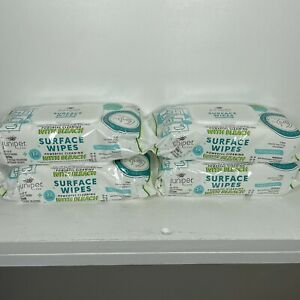 Juniper Surface Wipes with Bleach Fresh Scent  4 Packs 72 Count each 288 Total