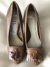 Brand New Clarks 'fairfax' Tan Shoes Size Uk 7