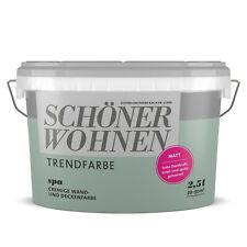 SCHÖNER WOHNEN Trendfarbe Wandfarbe Deckenfarbe spa 2,5 l
