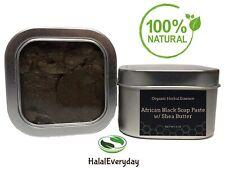 Raw African Black Soap Paste Acne Body Face Wash Stretch Marks Tin Jar 8 oz