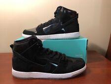 f24773b16ce313 Nike SB Zoom Dunk High Pro Iridescent Black White Clear 854851 001 Size 12