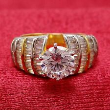 AD Cut Stone Ring US Size 5.75 Women Ring Indian Bollywood Fashion Party Jewelry