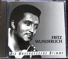 FRITZ WUNDERLICH CD,,DIE UNVERGESSENE STIMME''16 SUPER AUFNAHMEN AUS OPERETTEN