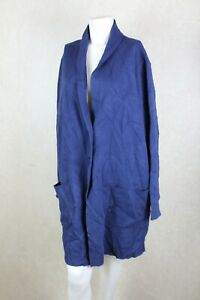 Charter Club Womens Size Plus 2X Blue Button-down Sweater Cardigan Jacket R17C2