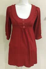Katherine Women's Fine Knit Tunic Red Size 8