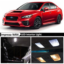 10x White Interior LED Light Package Kit for 2015-2017 Subaru WRX STI