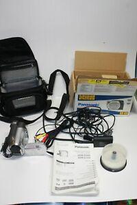 Panasonic VDR-D100 Mini DVD DVD-R Camcorder Battery Manual & Carrying Bag TESTED