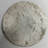 1814 Capped Bust Half Dollar Shipwreck Coin Silver Restored pretty example